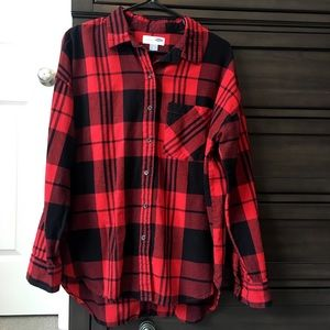 Old Navy Boyfriend buffalo plaid check shirt